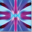 "Trademark Global Amy Vangsgard ""Tree Light Symmetry Blue and Purple"" Canvas Art, 18"" x 18"""