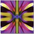 Trademark Global Amy Vangsgard in.Tree Light Symmetry Magenta and Greenin. Canvas Art, 18in. x 18in.