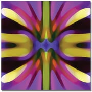 "Trademark Global Amy Vangsgard ""Tree Light Symmetry Magenta and Green"" Canvas Art, 18"" x 18"""