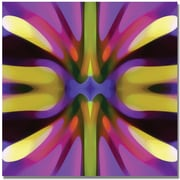 "Trademark Global Amy Vangsgard ""Tree Light Symmetry Magenta and Green"" Canvas Art, 35"" x 35"""