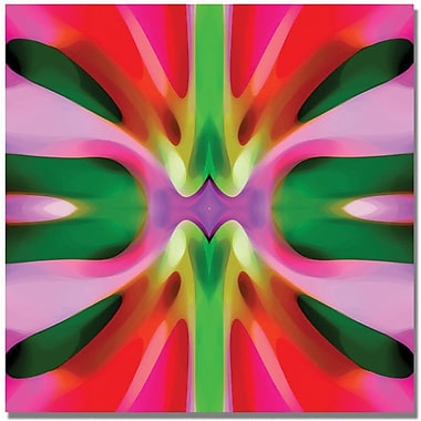 Trademark Global Amy Vangsgard in.Tree Light Symmetry Pink and Greenin. Canvas Arts