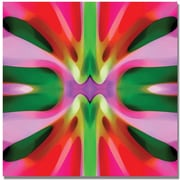 "Trademark Global Amy Vangsgard ""Tree Light Symmetry Pink and Green"" Canvas Art, 18"" x 18"""
