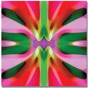 "Trademark Global Amy Vangsgard ""Tree Light Symmetry Pink and Green"" Canvas Art, 35"" x 35"""