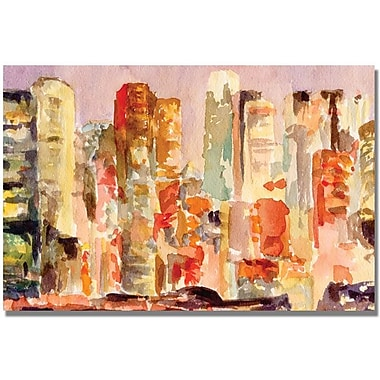 Trademark Global Beverly Brown in.Midtown Dusk New York Skylinein. Canvas Art, 30in. x 47in.