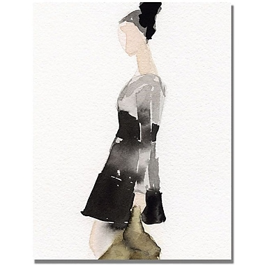 Trademark Global Beverly Brown in.Black and Gray Dressin. Canvas Art, 24in. x 18in.