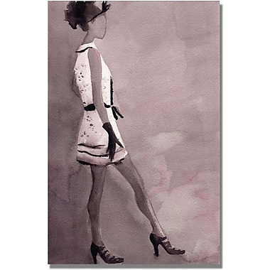 Trademark Global Beverly Brown in.Black and White Mini Dressin. Canvas Arts