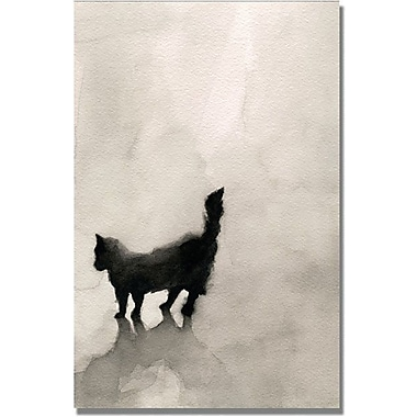 Trademark Global Beverly Brown in.Black Catin. Canvas Art, 24in. x 16in.