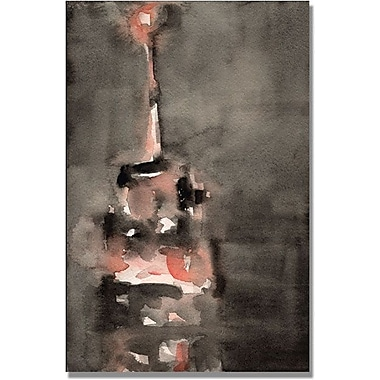 Trademark Global Beverly Brown in.Empire State Building Orangein. Canvas Arts