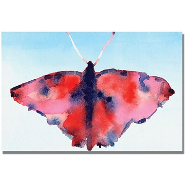 Trademark Global Beverly Brown in.Fantasy Butterfly Red and Bluein. Canvas Art, 16in. x 24in.