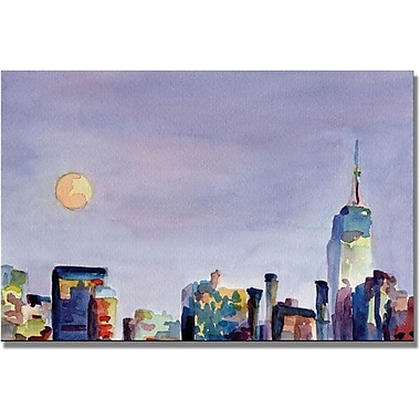 Trademark Global Beverly Brown in.Full Moon Empire State Buildingin. Canvas Art, 30in. x 47in.