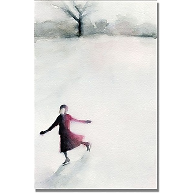 Trademark Global Beverly Brown in.Girl Ice Skatingin. Canvas Art, 47in. x 30in.