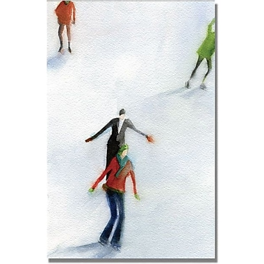 Trademark Global Beverly Brown in.Ice Skatersin. Canvas Art, 24in. x 16in.