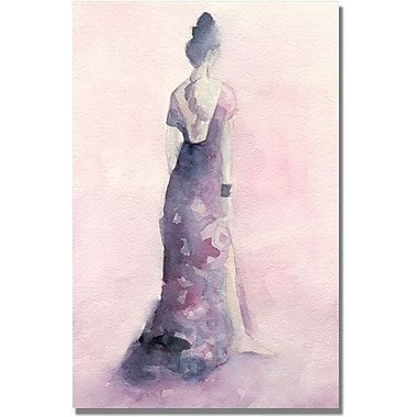 Trademark Global Beverly Brown in.Long Purple and Pink Dressin. Canvas Arts