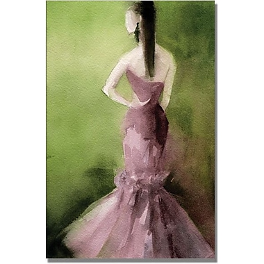Trademark Global Beverly Brown in.Mauve Evening Gownin. Canvas Art, 24in. x 18in.