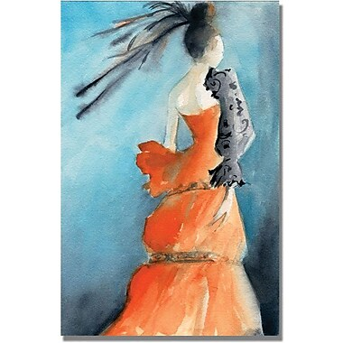 Trademark Global Beverly Brown in.Orange Evening Gownin. Canvas Arts