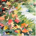 Trademark Global Beverly Brown in.Path Monet's Garden in Givernyin. Canvas Art, 24in. x 24in.