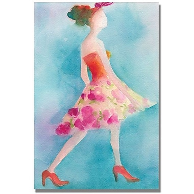 Trademark Global Beverly Brown in.Pink Flowered Skirtin. Canvas Arts