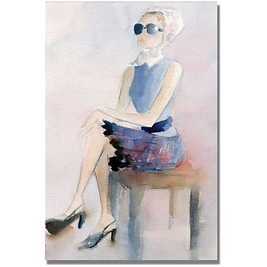 Trademark Global Beverly Brown in.Plaid Skirt Kerchiefin. Canvas Arts