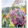Trademark Global Beverly Brown in.Purple Blossoms Monets Gardenin. Canvas Art, 18in. x 18in.