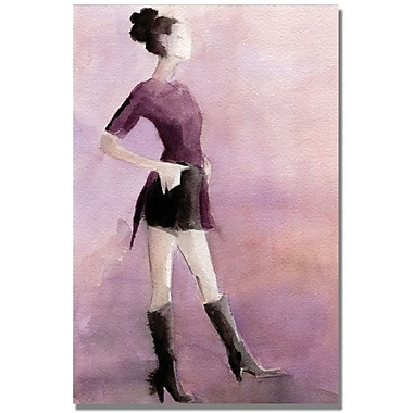 Trademark Global Beverly Brown in.Purple Shirt and Shortsin. Canvas Arts