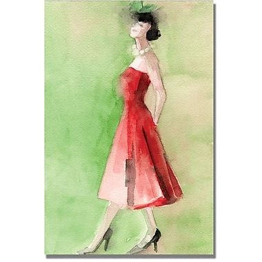 Trademark Global Beverly Brown in.Red Vintage Dressin. Canvas Art, 47in. x 30in.