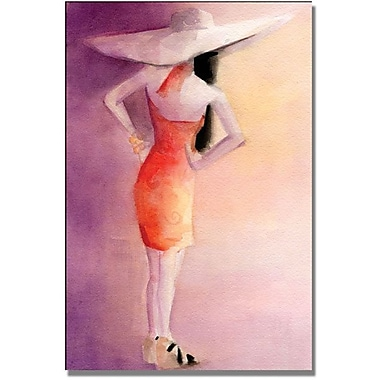 Trademark Global Beverly Brown in.White Hat Orange Dressin. Canvas Art, 24in. x 16in.