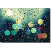 "Trademark Global Beata Czyzowska Young ""Rainy City"" Canvas Art, 30"" x 47"""