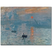 "Trademark Global Claude Monet ""Impression Sunrise"" Canvas Art, 14"" x 19"""