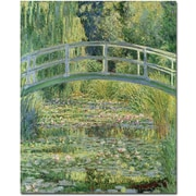 "Trademark Global Claude Monet ""Waterlily Pond"" Canvas Art, 18"" x 24"""