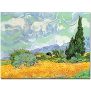 "Trademark Global Vincent Van Gogh ""Wheatfield with Cypresses 1889"" Canvas Art, 24"" x 32"""