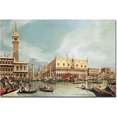 Trademark Global Canaletto in.The Molo Venicein. Canvas Art, 16in. x 24in.
