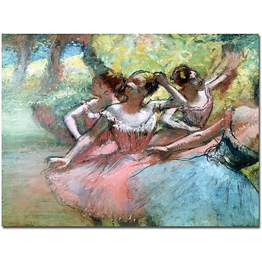 Trademark Global Edgar Degas in.Four Ballerinas on the Stagein. Canvas Art, 14in. x 19in.