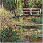 Trademark Global Claude Monet The Waterylily Pond Pink