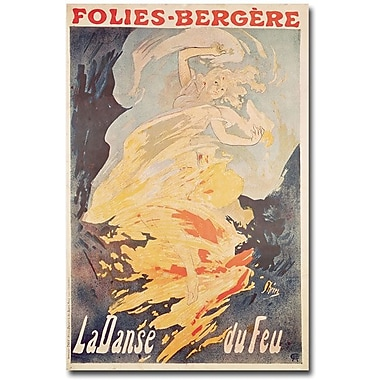 Trademark Global Jules Cheret in.La Danse du Feu, 1897in. Canvas Arts