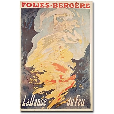 Trademark Global Jules Cheret in.La Danse du Feu, 1897in. Canvas Art, 47in. x 30in.