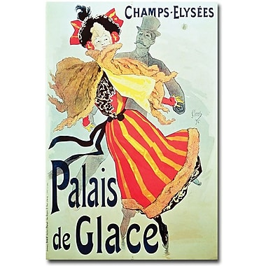 Trademark Global Jules Cheret in.Ice Palace, Champs Elysees, 1893in. Canvas Art, 24in. x 16in.