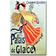 "Trademark Global Jules Cheret ""Ice Palace, Champs Elysees, 1893"" Canvas Art, 24"" x 16"""