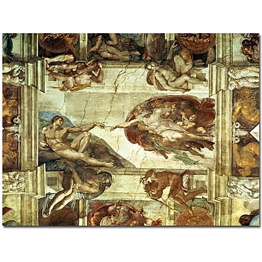Trademark Global Leonardo da Vinci in.The Creation of Adamin. Canvas Art, 24in. x 32in.