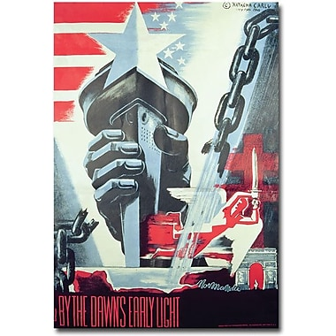 Trademark Global in.By the Dawn's Early Light 1945in. Canvas Arts