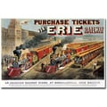 Trademark Global N.Currier and JM Ives in.Erie Railway Homesvillein. Canvas Art, 16in. x 24in.