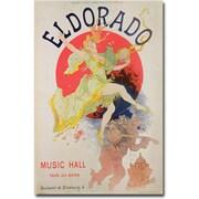 """Trademark Global Jules Cheret """"El Dorado, 1836"""" Canvas Art, 47"""" x 30"""""""