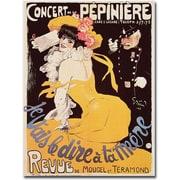 Trademark Global Concert de la Pepiniere 1902 Canvas Art, 24 x 18