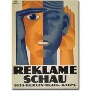 Trademark Global Lucian Bernard Reklameschau 1929 Canvas Art, 24 x 18