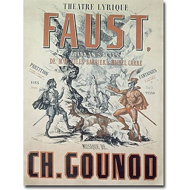 Trademark Global in.Faust Opera 1875in. Canvas Arts