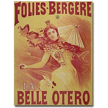 Trademark Global Bataille in.Le Belle Otero, 1894in. Canvas Art, 24in. x 18in.