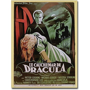 Trademark Global in.The Horror of Draculain. Canvas Art, 24in. x 18in.