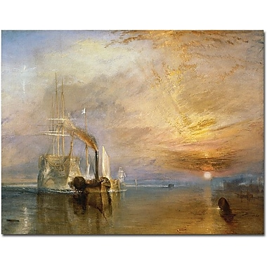 Trademark Global Joseph Turner in.The Fighting Temeraire, 1839in. Canvas Art, 18in. x 24in.