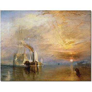 Trademark Global Joseph Turner in.The Fighting Temeraire, 1839in. Canvas Arts