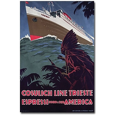 Trademark Global in.Cosulich Linein. Canvas Art, 24in. x 16in.