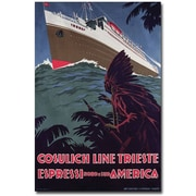 "Trademark Global ""Cosulich Line"" Canvas Arts"